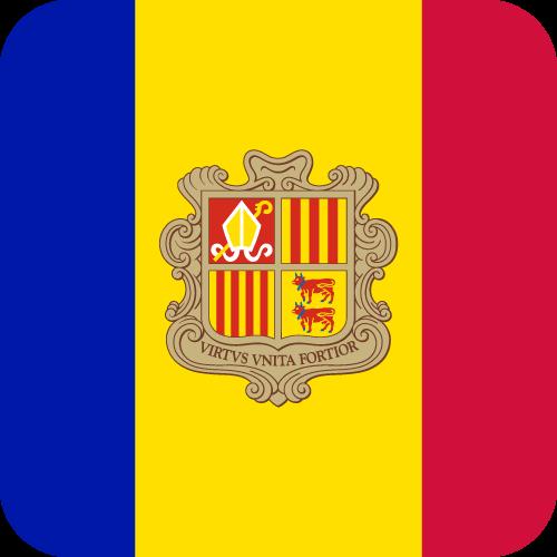 Vector flag of Andorra - Button