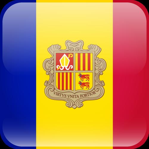 Vector flag of Andorra - Cube
