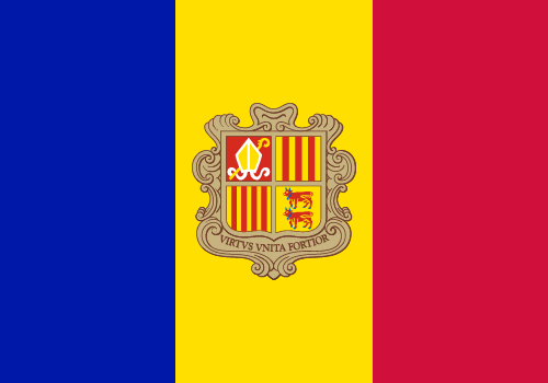 Vector flag of Andorra