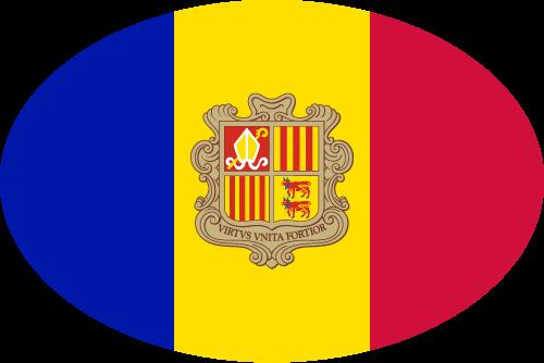 Vector flag of Andorra - Oval