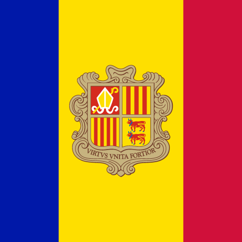 Vector flag of Andorra - Square