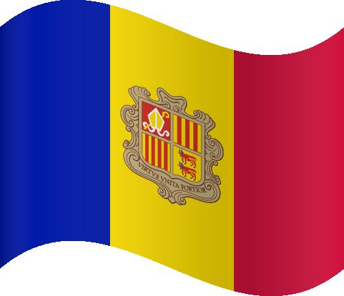 Vector flag of Andorra - Waving