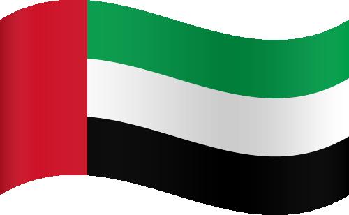 Vector flag of the United Arab Emirates - Waving