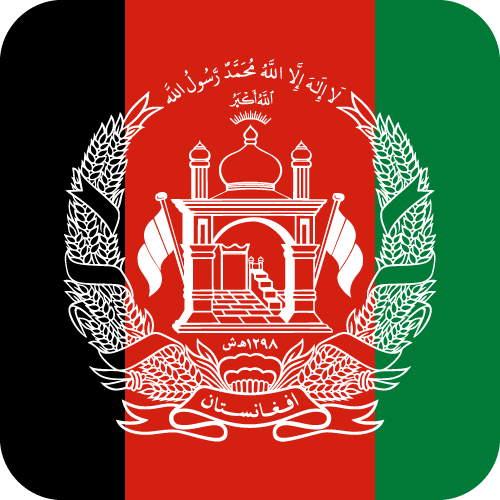 Vector flag of Afghanistan - Button