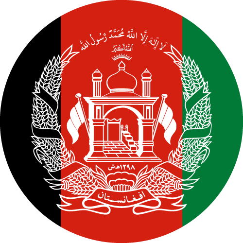 Vector flag of Afghanistan - Circle