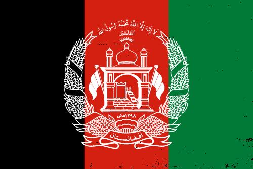 Vector flag of Afghanistan - Grunge