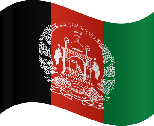 Vector flag of Afghanistan - Waving