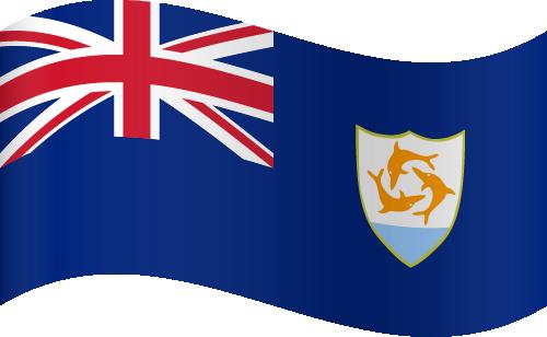 Vector flag of Anguilla - Waving