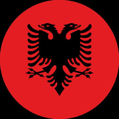 Vector flag of Albania - Circle