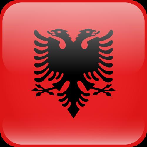 Vector flag of Albania - Cube