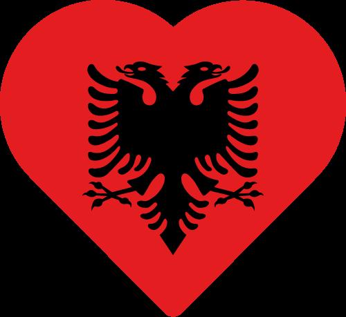 Vector flag of Albania - Heart
