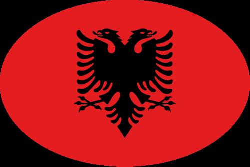 Vector flag of Albania - Oval