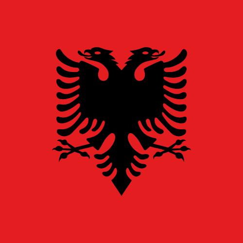 Vector flag of Albania - Square