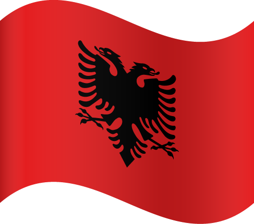 Vector flag of Albania - Waving