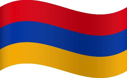 Vector flag of Armenia - Waving