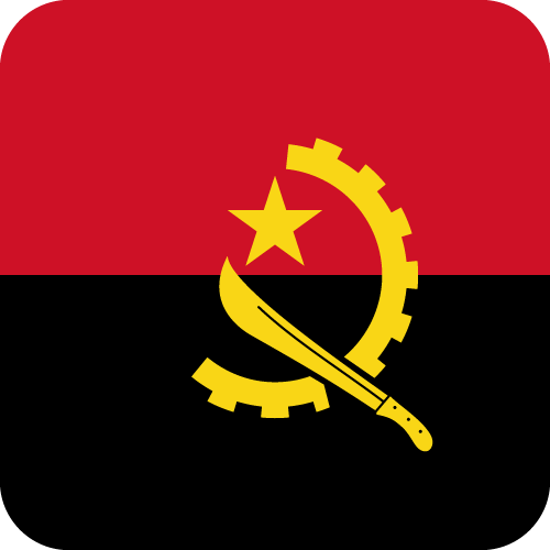 Vector flag of Angola - Button