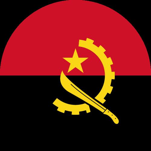 Vector flag of Angola - Circle