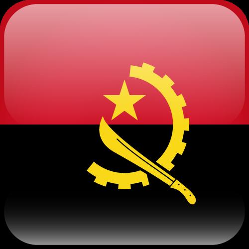 Vector flag of Angola - Cube