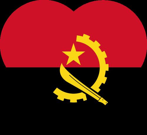 Vector flag of Angola - Heart
