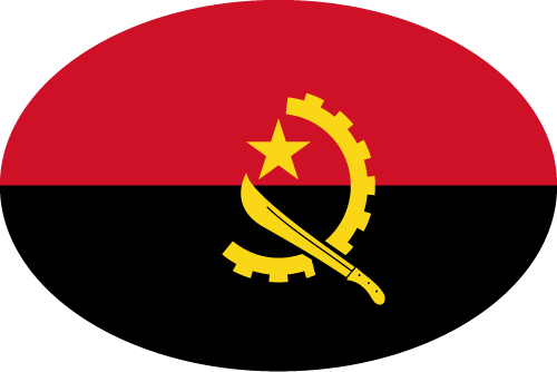 Vector flag of Angola - Oval