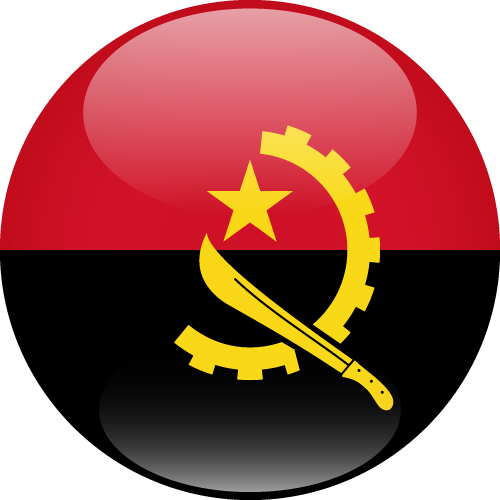 Vector flag of Angola - Sphere