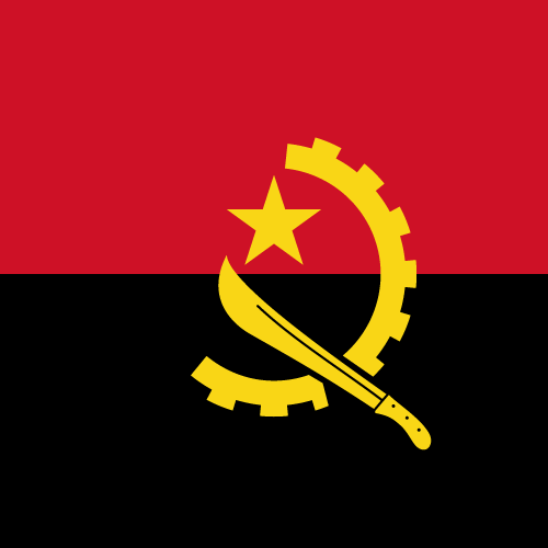 Vector flag of Angola - Square