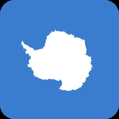 Vector flag of Antarctica - Button