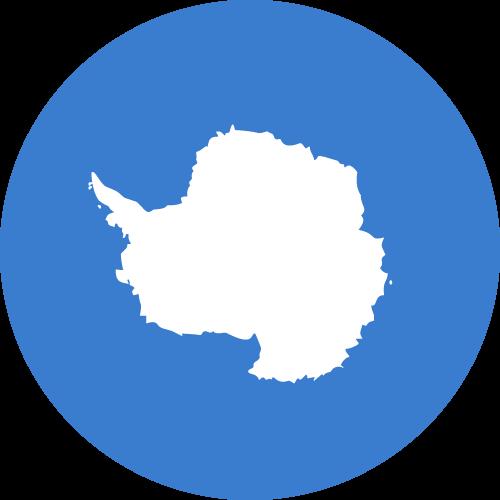 Vector flag of Antarctica - Circle