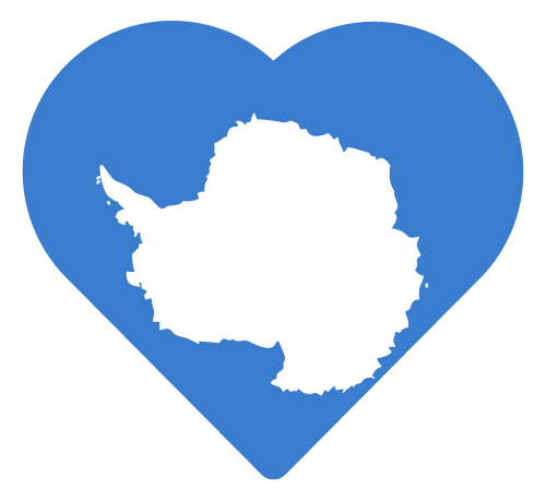 Vector flag of Antarctica - Heart