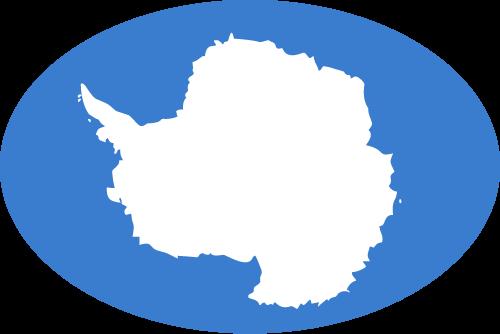 Vector flag of Antarctica - Oval
