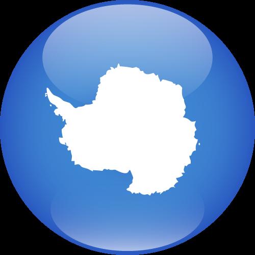Vector flag of Antarctica - Sphere