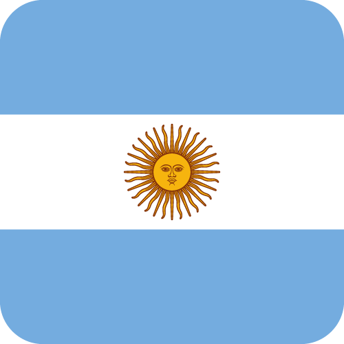 Vector flag of Argentina - Button