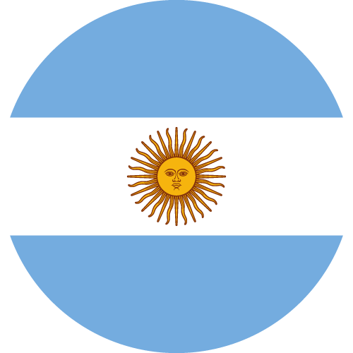 Vector flag of Argentina - Circle