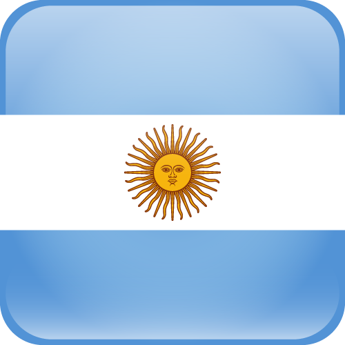 Vector flag of Argentina - Cube