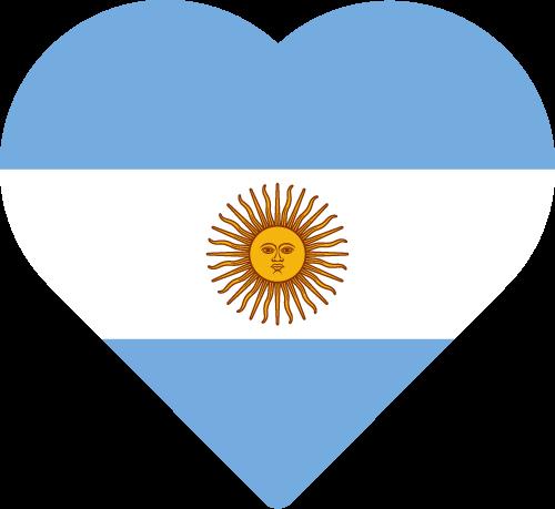 Vector flag of Argentina - Heart