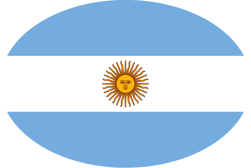 Vector flag of Argentina - Oval