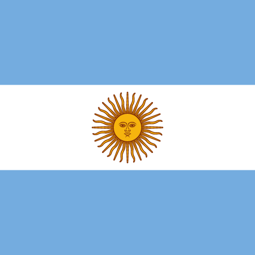 Vector flag of Argentina - Square