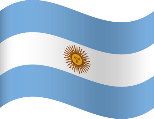 Vector flag of Argentina - Waving