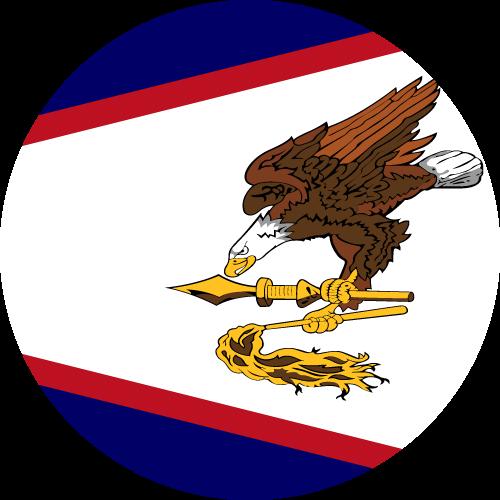 Vector flag of American Samoa - Circle