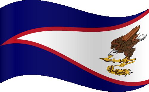 Vector flag of American Samoa - Waving