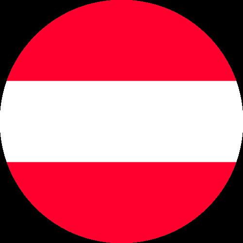 Vector flag of Austria - Circle