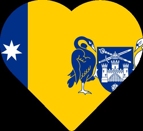Vector flag of the Australian Capital Territory - Heart