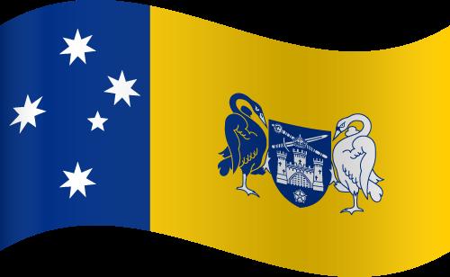 Vector flag of the Australian Capital Territory - Waving