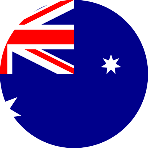 Vector flag of Australia - Circle