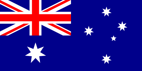 Vector flag of Australia