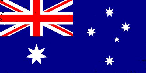 Vector flag of Australia - Grunge