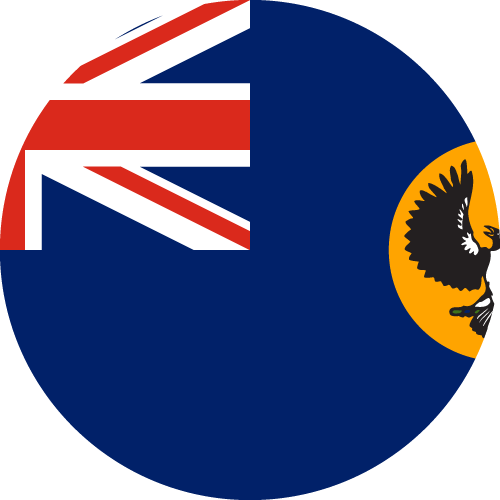 Vector flag of South Australia - Circle
