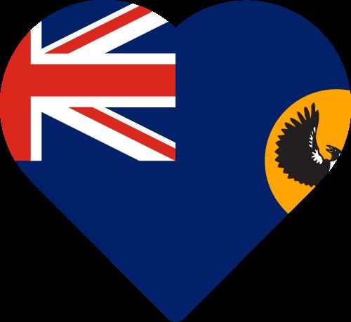 Vector flag of South Australia - Heart