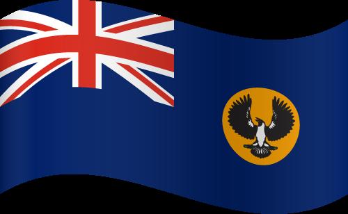 Vector flag of South Australia - Waving