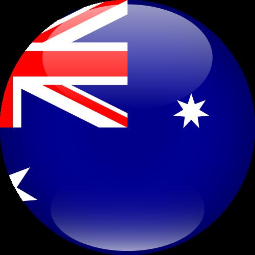 Vector flag of Australia - Sphere